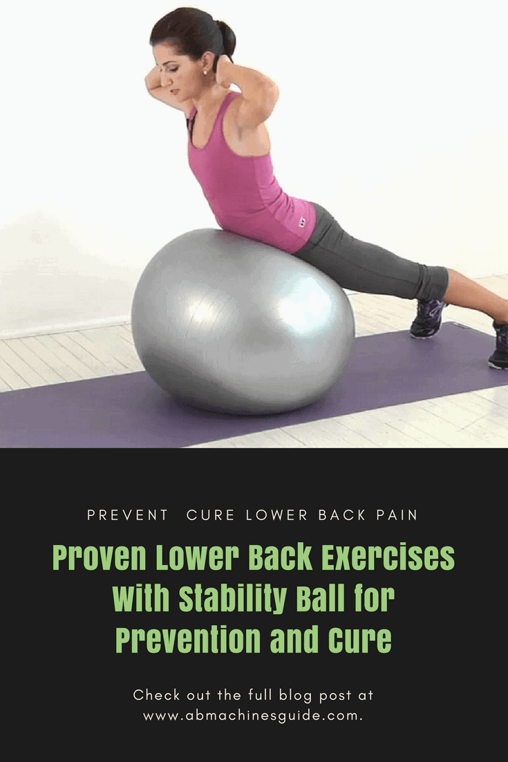 Learn the best lower back exercises with stability ball to cure and avoid back pain by strengthening responsible muscles.
