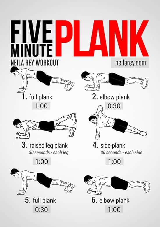 Plank Exercise Variations and Routines for Rock Hard Abs