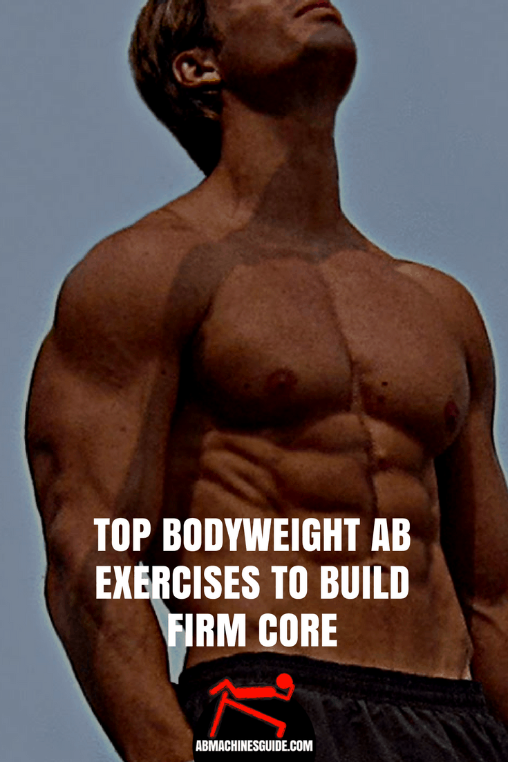 Did you know that one of the best ways to train your core is to use your own weight? Here you can find the best bodyweight ab exercises. #abs #workout