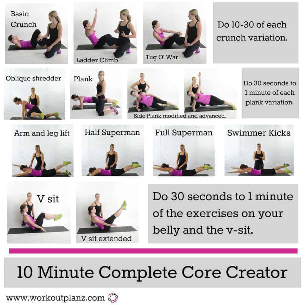 Top Core Workouts for Women at - 195.3KB