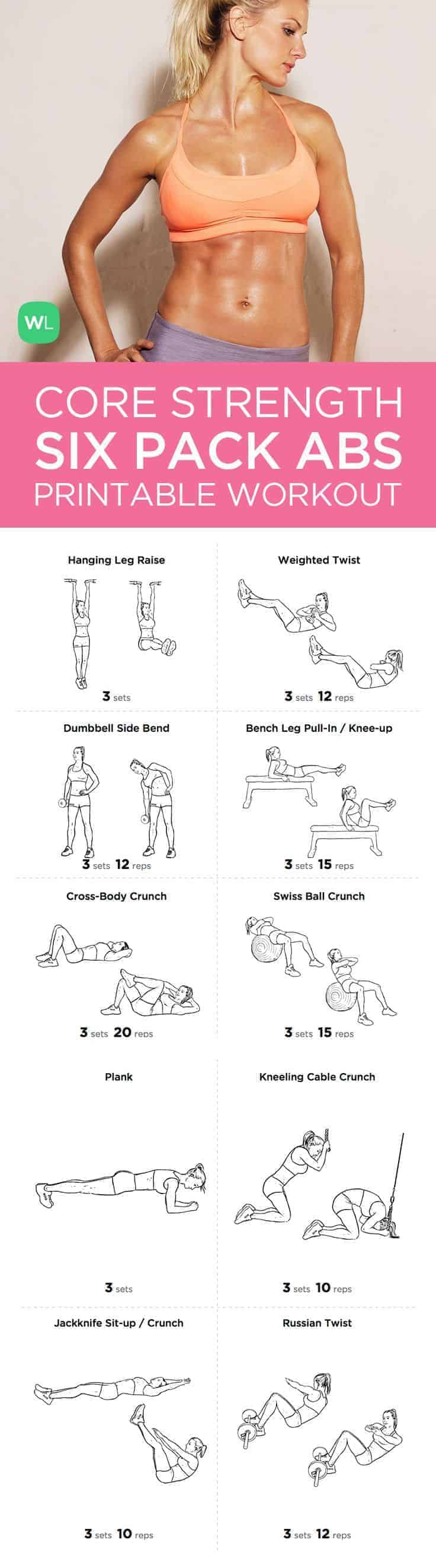 Women Gym Abs Workout Routine Core