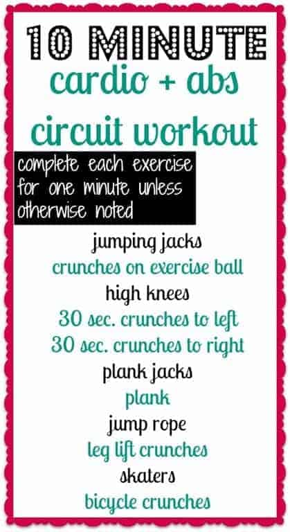 Cardio Abs Workout Routine