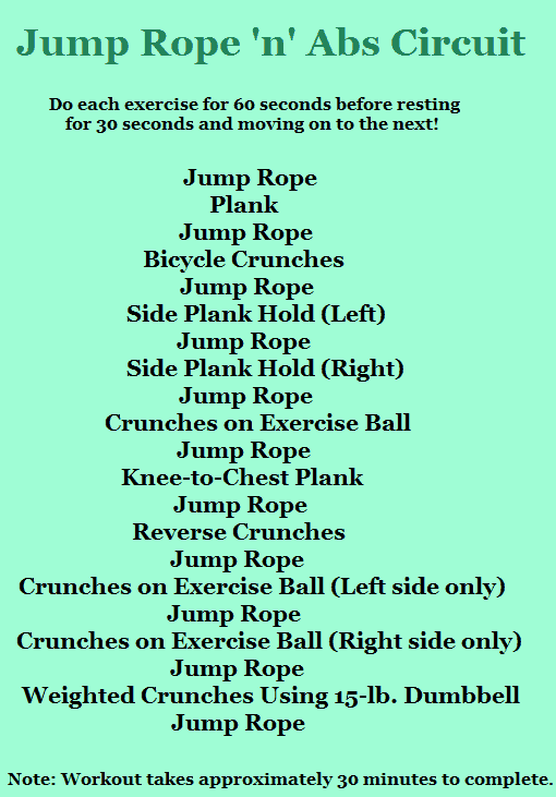 jump rope with abs training