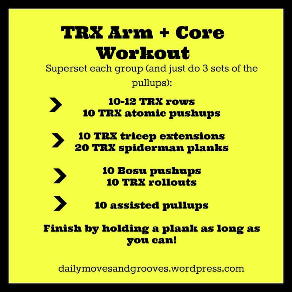 trx core workout plan