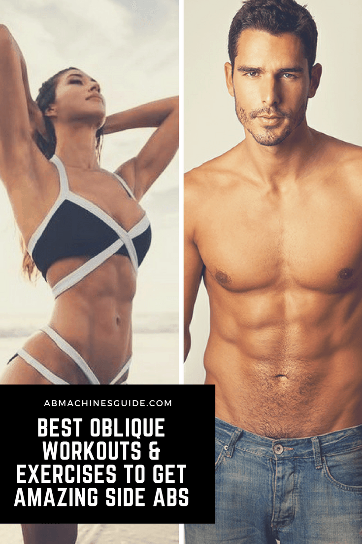 Check out the best oblique workouts and exercises that will help you build perfect looking side abs and to get rid of love handles. #workout #oblique