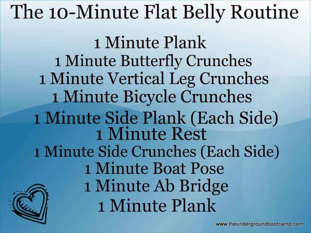 how to achieve a flat stomach without exercise