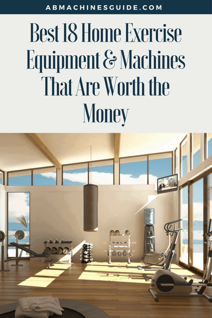 Discover what are the best home exercise equipment that are worth to buy for your home gym to have efficient workouts at home. #homegym #workout