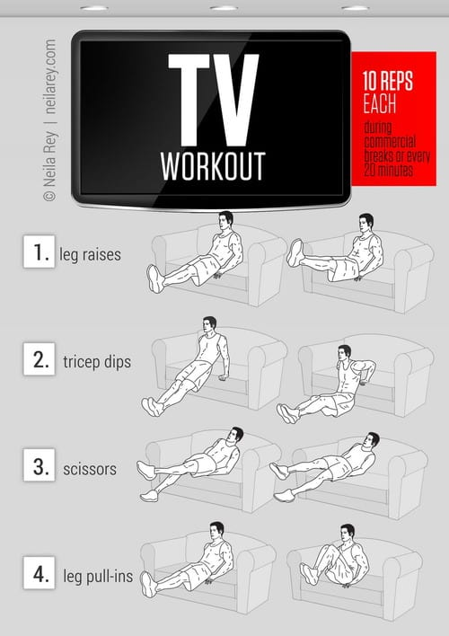 How to Work Your Abs While Watching TV Efficiently