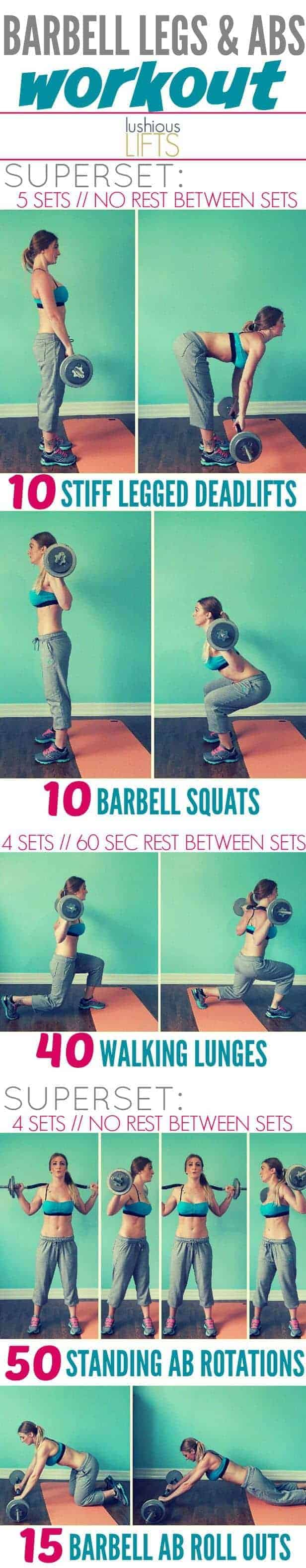 barbell-abs-leg-workout-routine