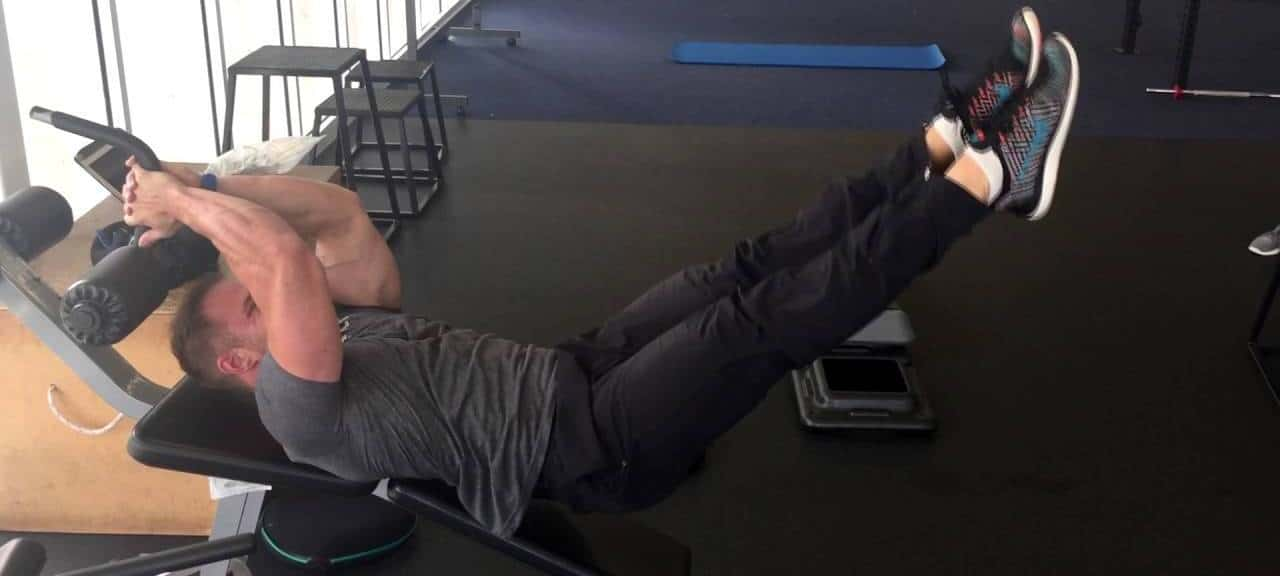 incline leg raise