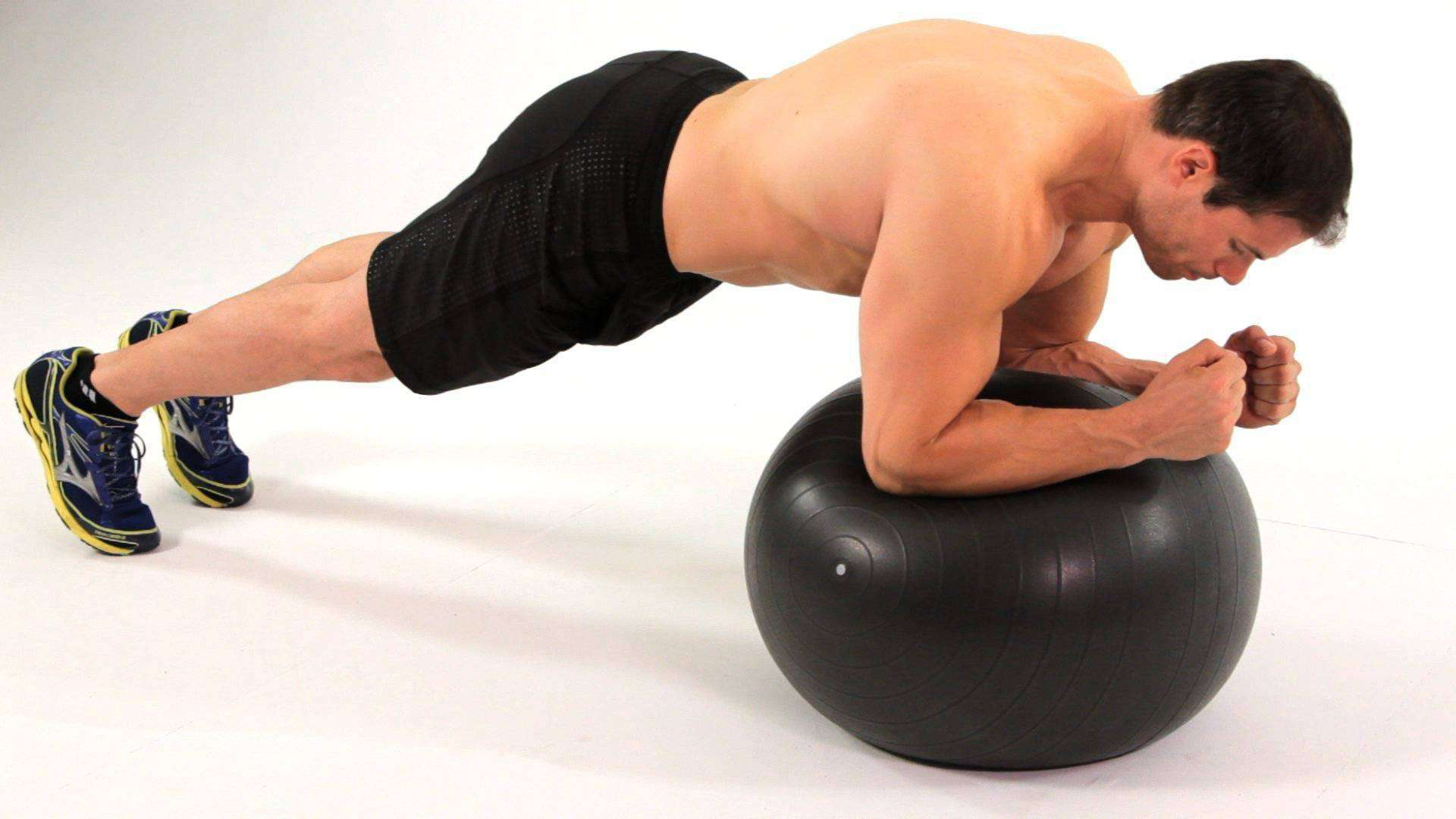 plank stability ball