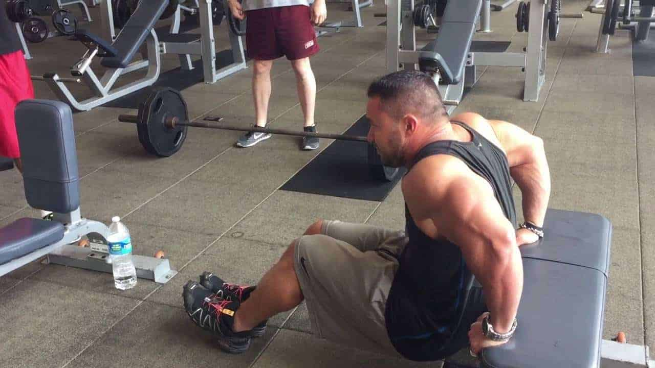 exercises with just weight bench