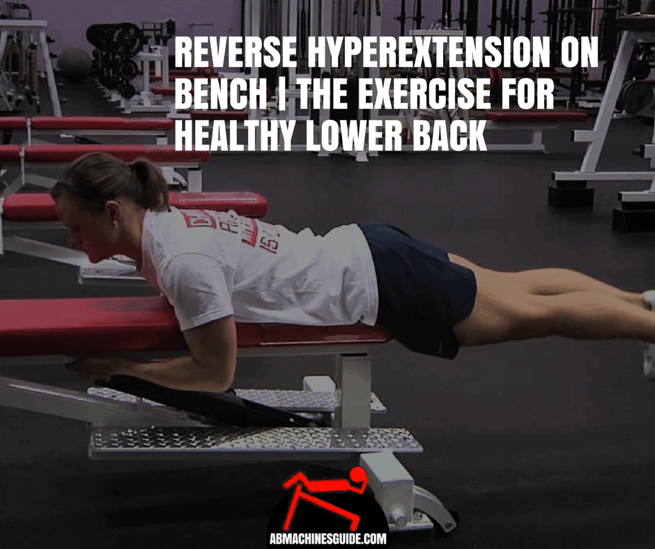 The reverse hyperextension on the flat bench is a powerful exercise to strengthen your lower back and spine muscles. Learn how to do it and why.
