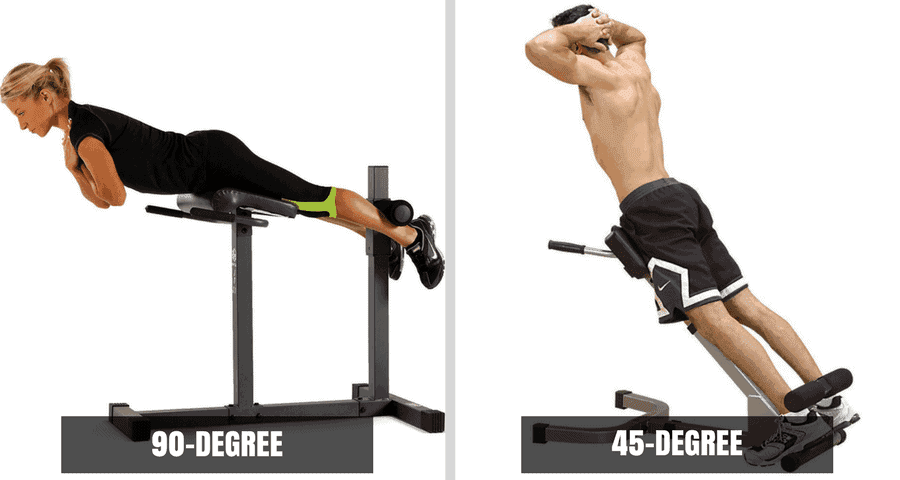 90 Degree Roman Chair Vs 45 Degree Hyperextenion Bench