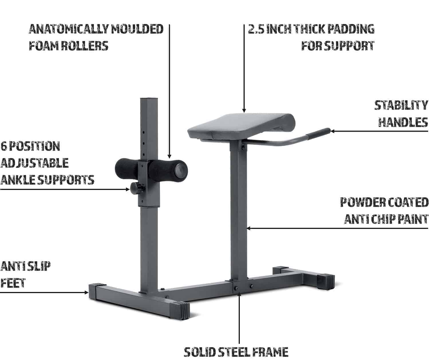 Marcy Roman chair hyperextension bench