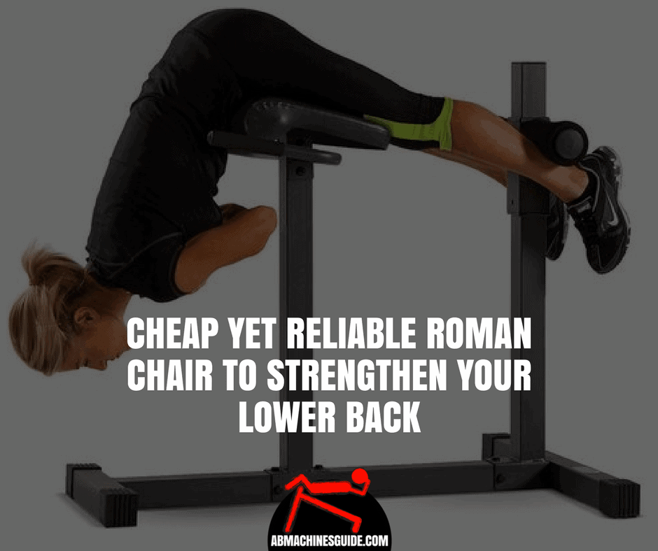 Do you need a cheap yet reliable hyperextension bench for home? Check out our honest review on the Marcy Roman Chair. #romanchair #homegym
