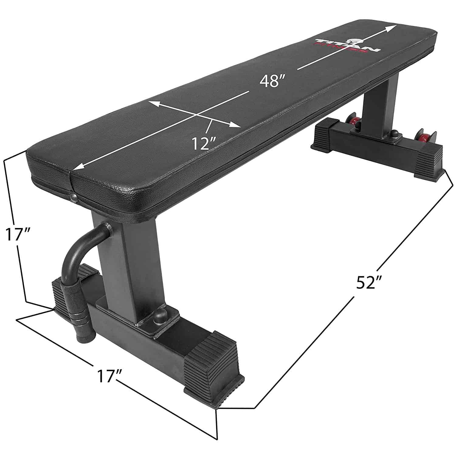 titan fitness flat workout bench