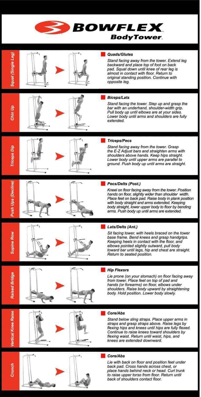 Bowflex power tower exercises