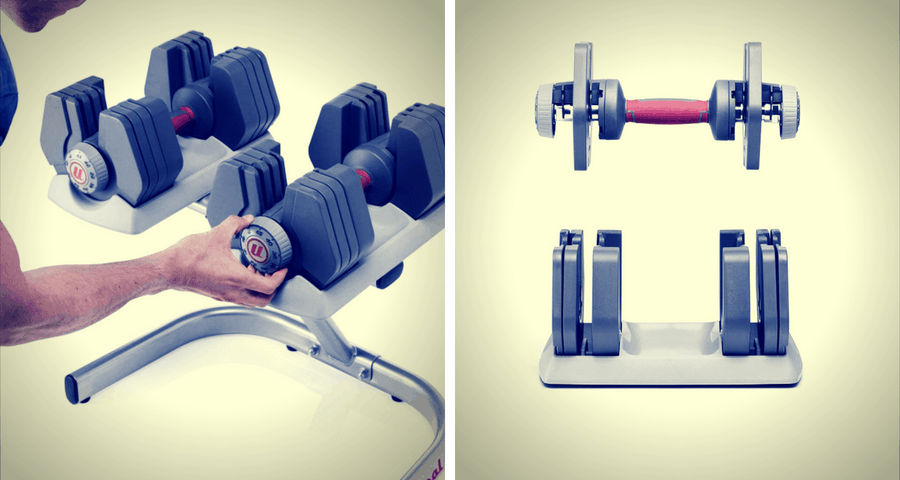Universal Selectorized 445 Dumbbells weight setting