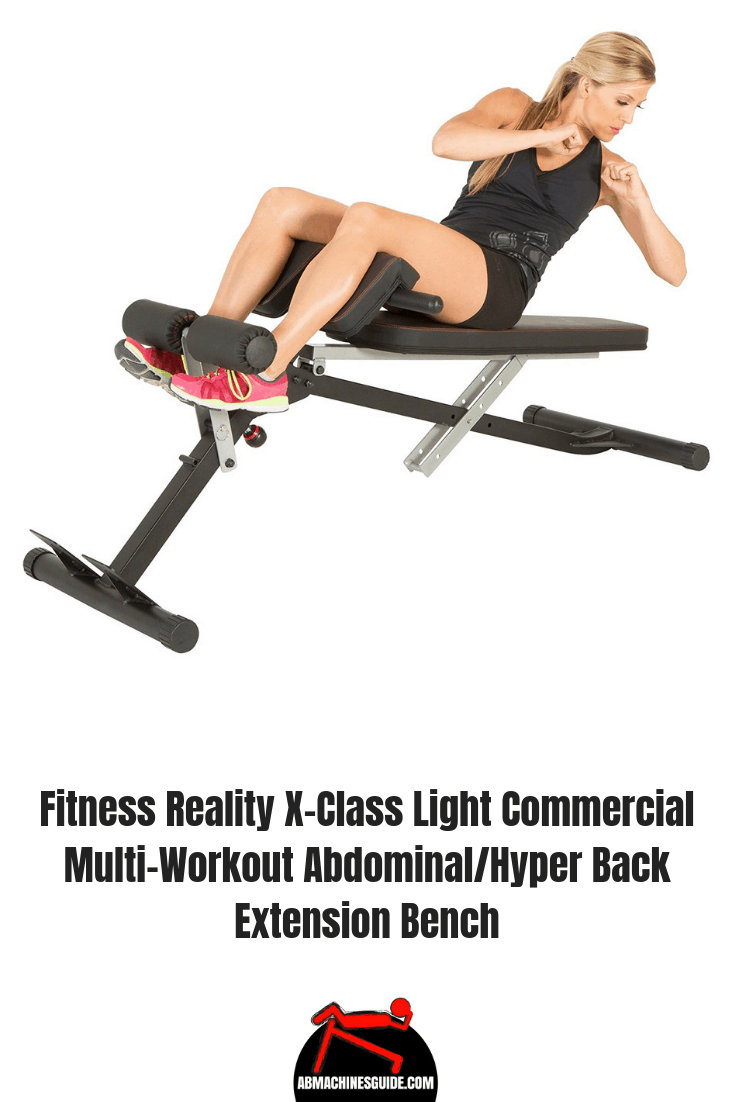 Need a multi-function workout bench? Check out Fitness Reality X-Class which is a weight bench, sit up bench and hyperextension bench equipment. #homegym #workoutbench