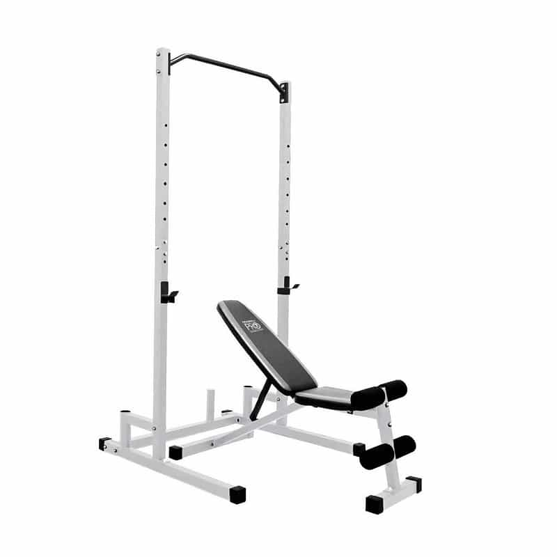 weight bench with squat rack