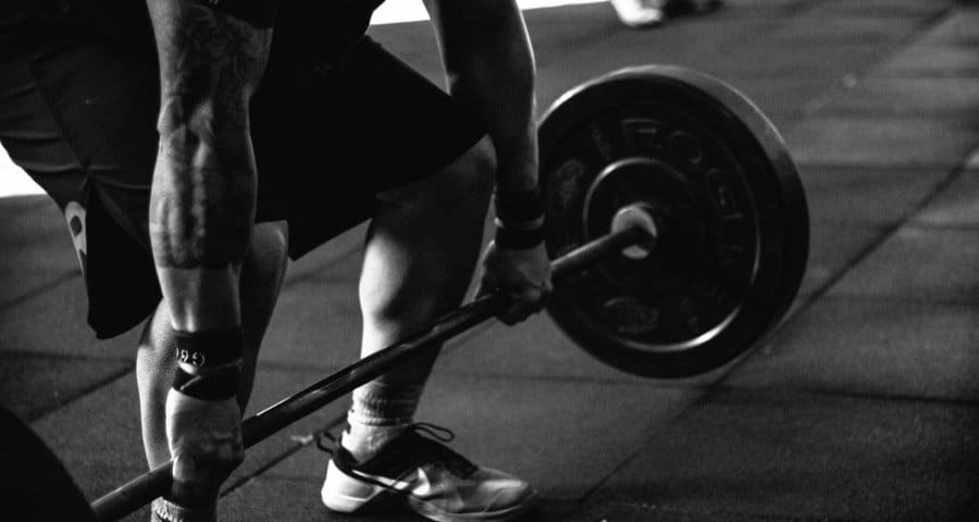 weight set with barbell