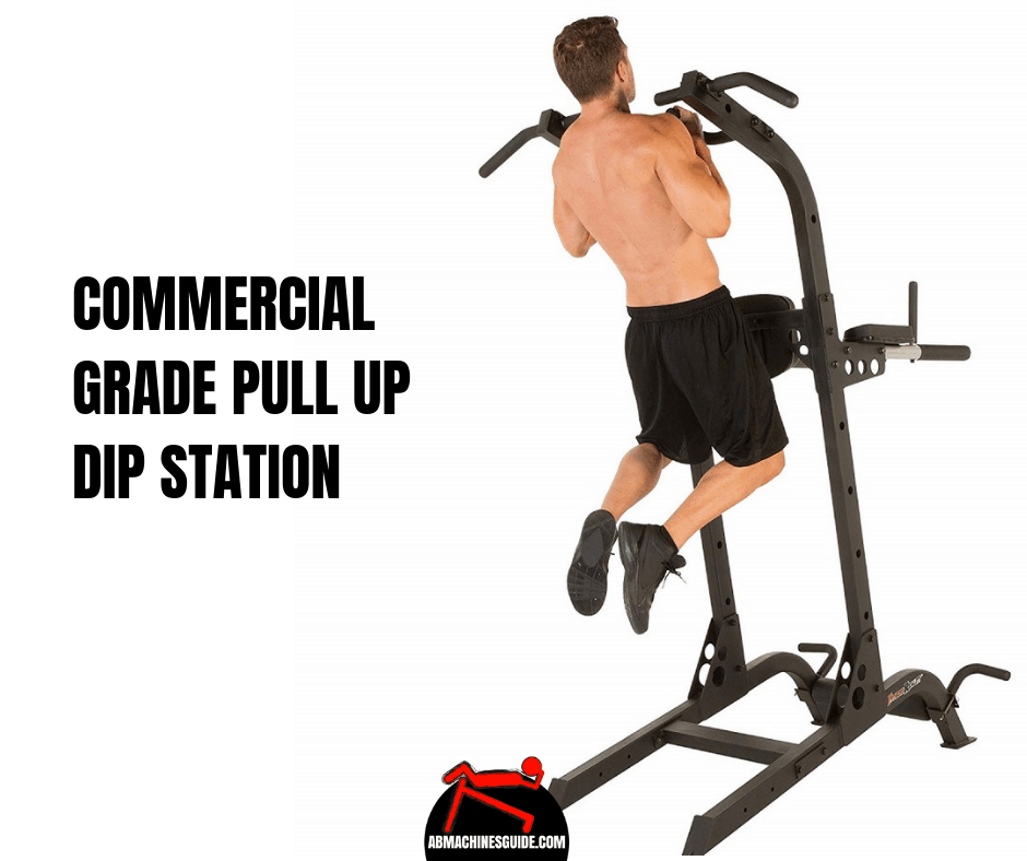 Check out this multi-function commercial grade pull up dip station which has the highest weight capacity so suitable equipment for pros.